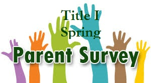 Title I Spring Parent Survey